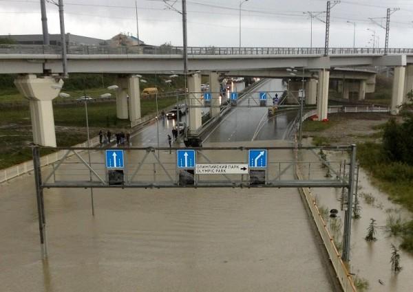 Олимпийский Сочи после дождика